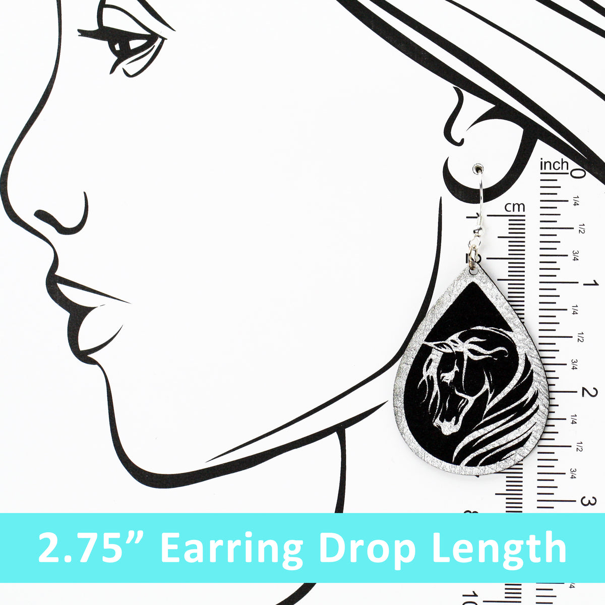 Breathless Arabian Horse Dangle Earrings - Multiple Color Options