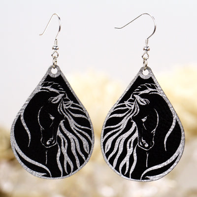 Regal Gypsy Horse Head Earrings - Multiple Color Options