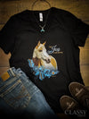 Find Joy in the Journey - Paint Horse, V-Neck Tee