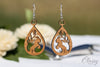 Gypsy Horse at Play Hardwood Equestrian Teardrop Earrings