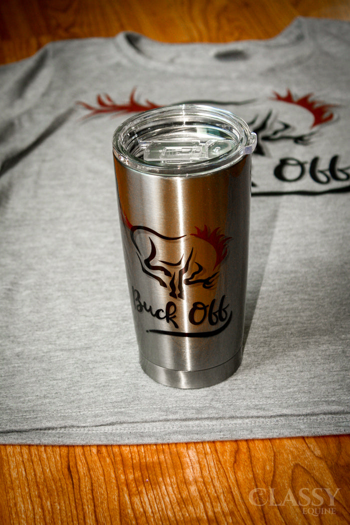 Buck Off - Stainless Steel 20 oz Tumbler