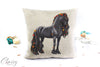 Friesian Horse Pillow Cover - Autumn Delight Friesian Horse