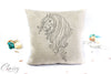 Friesian Horse Pillow Cover - Strength Friesian Mare