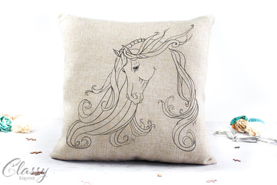 Pillow Cover -  Grace - Arabian Horse