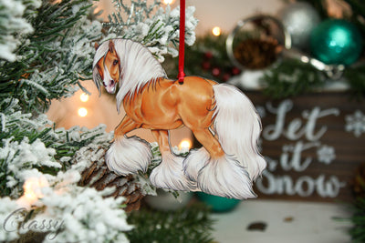 2019 Christmas Ornament - Palomino Gypsy Horse