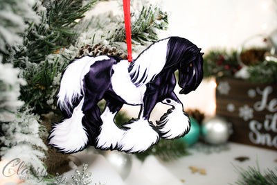 Gypsy Horse Ornaments - Full Set of 4 Gypsy Horses