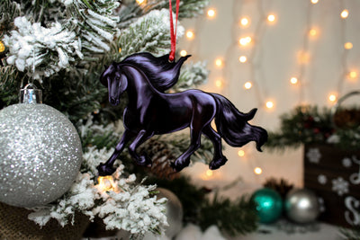 Black Friesian Horse Ornament III