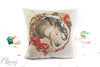 Gypsy Horse Pillow Cover - Buckskin Gypsy Horse Christmas Wreath