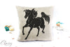 Arabian Horse Pillow Cover -  Majestic Trotting Arab Horse