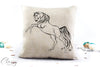 Arabian Horse Pillow Cover -  Rearing Breathless - Arabian Horse