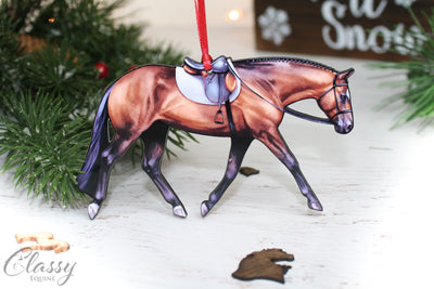 Bay English Pleasure Quarter Horse Ornament
