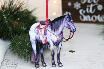 2019 Blue Roan Western Ranch Quarter Horse Ornament