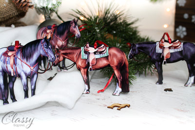 Bay Western Ranch Quarter Horse Ornament
