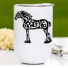 Clydesdale Draft Horse Wine Tumbler