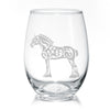 Draft Horse Stemless Wine Glasses