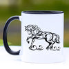 Elegant Friesian Horse Coffee Mug - 11 oz