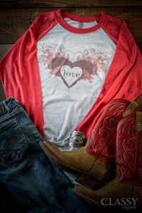 For the Love of a Horse Stylish Equestrian Raglan
