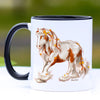 Autumn Leaves Chestnut and White Gypsy Horse Coffee Mug - 11 oz