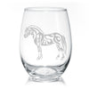 Fjord Horse Stemless Wine Glasses