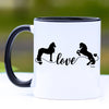 Friesian Horse Love Coffee Mug - 11 oz