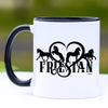 Friesian Horse Heart Coffee Mug - 11 oz