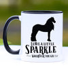 Leave a Little Sparkle, Friesian Horse Coffee Mug - 11 oz