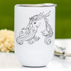 Graceful Arabian Horse Wine Tumbler