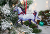 Gray Arabian Horse Ornament -  Adorned with Ribbons