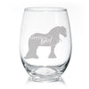 Gypsy Girl - Gypsy Horse Stemless Wine Glasses