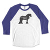Gypsy Girl - Gypsy Horse 3/4 Sleeve Raglan Shirt