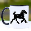 Traditional Gypsy Cob Horse Foal Coffee Mug - 11 oz