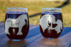 Gypsy Horse Stemless Wine Glass Set