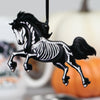 Halloween Horse Ornament - Black Friesian Skeleton