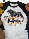 Happy Halloween  Boo-tiful Gypsy Horse Raglan