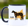 Hello Autumn Fall Quarter Horse Coffee Mug - 11 oz