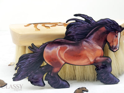 Bay Gypsy Horse Ornament
