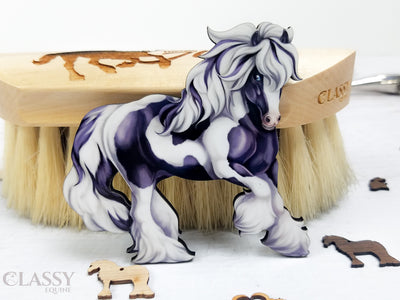 Traditional Tobiano Gypsy Horse Ornament