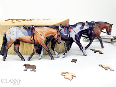 Set of 3 English Horse Ornaments