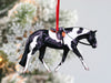 Black and White Tobiano English Paint Horse Ornament