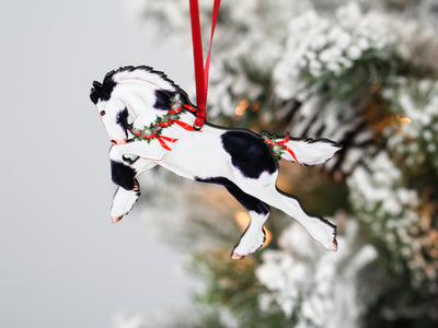 Gypsy Vanner Horse Christmas Ornaments - Set of 5 Gypsy Foals