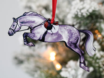 Jumping Horse Ornaments - Gray Hunter Jumper