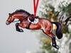 Jumping Horse Ornaments - Bay Hunter Jumper