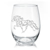 Icelandic Horse Stemless Wine Glasses