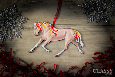 Palomino Horse Christmas Ornament