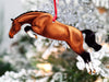 Jumping Horse Ornaments - Bay Hunter Jumper II