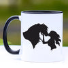 Kisses Horse Girl Coffee Mug - 11 oz