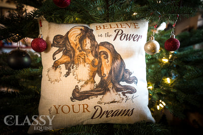 Gypsy Horse Pillow Cover - Believe in the Beauty of your Dreams