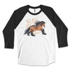 Bay Gypsy Heart - Gypsy Horse 3/4 Sleeve Raglan Shirt