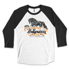 Happy Halloween  Boo-tiful Gypsy Vanner Horse Raglan Tee