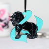 Ovarian Cancer Awareness Ribbon Gypsy Horse Ornament